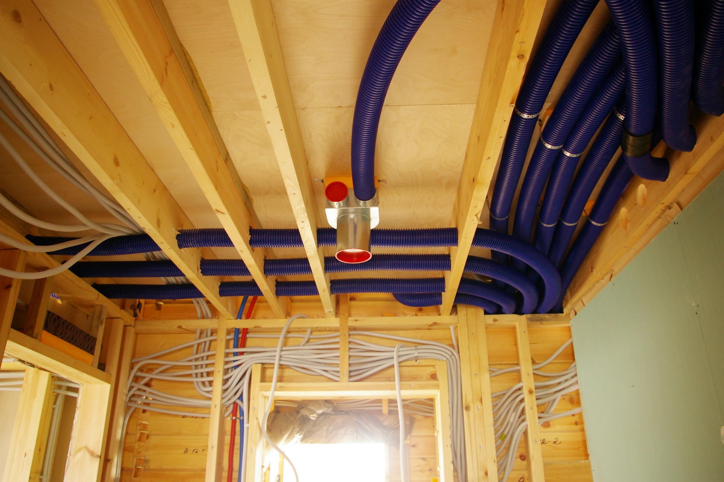 Монтаж вентиляции в частном доме недорого